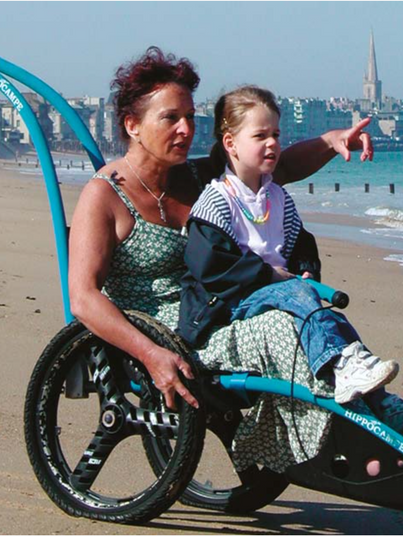 beach wheelchair with oversized tires