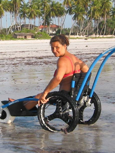 handicapped wheelchair for beaches