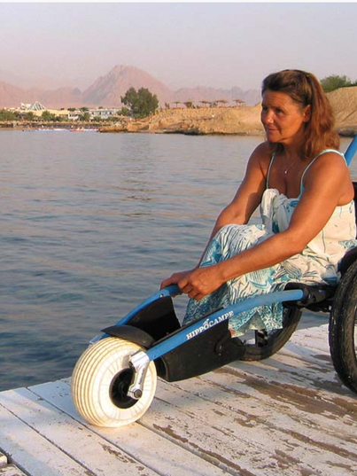 beach wheelchair for docks and pathways