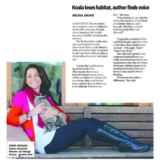 Koala Talk with the Courier Mail