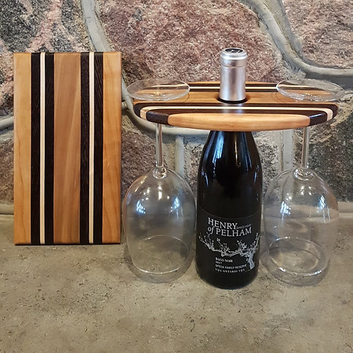 Wine Caddy & Cheeseboard Set (Cherry, Wenge, Maple, & Black Gum)