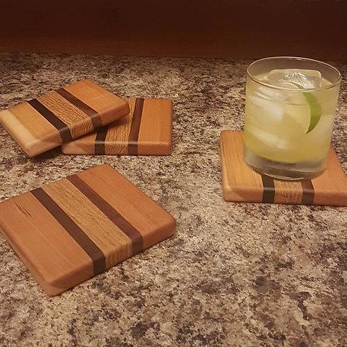 Coaster Set (Cherry, Black Walnut, & White Oak)
