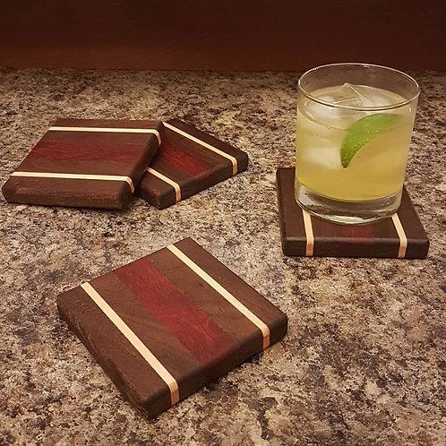 Coaster Set (Peruvian Walnut, Maple, & Padauk)