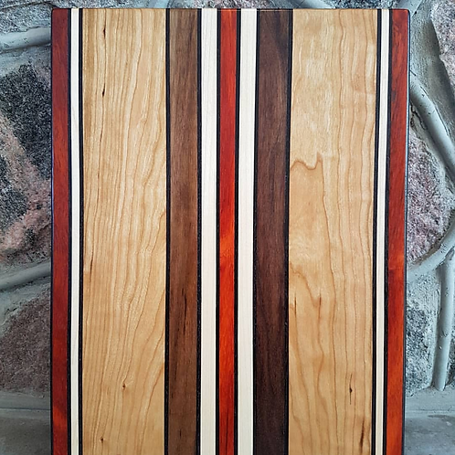 Wenge, Padauk, Maple, Cherry, and Black Walnut