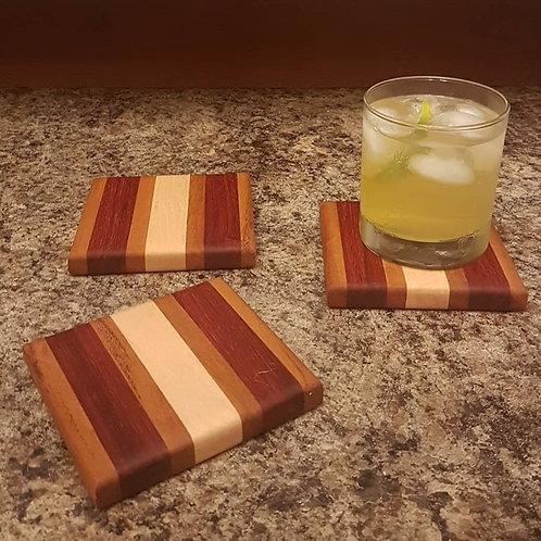 Coaster Set (Mahogany, Padauk, & Maple)