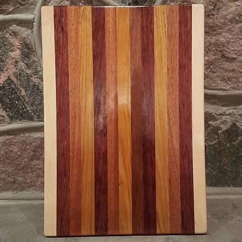 Maple, Purple Heart, Mahogany, Canarywood