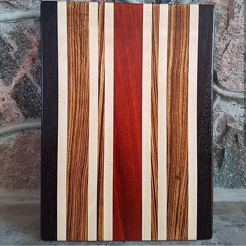 Wenge, Maple, Zebrawood, Bloodwood
