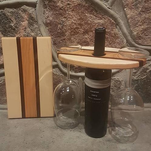 Wine Caddy & Cheeseboard Set (Maple, Walnut, & Cherry)