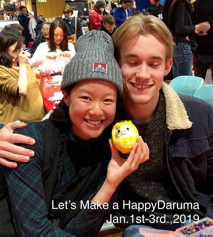 Let's Make a HappyDaruma! だるまさんづくりの楽しさに、国境ナシ♪