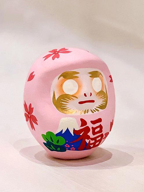 はっぴーだるま「富士と桜に松」
