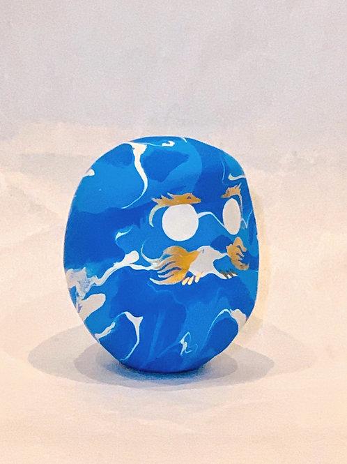 龍と鳳凰「一期一会」(マーブル) 青空色