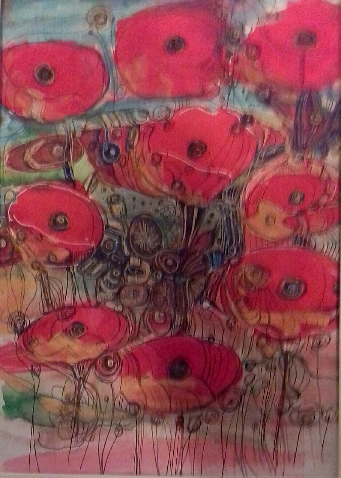 poppies in rememberance