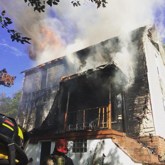 Dwelling Fire in Wilkins Township
