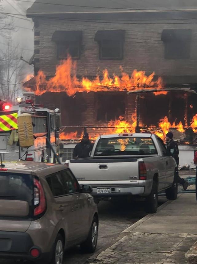 Multiple Alarm Fire in North Braddock