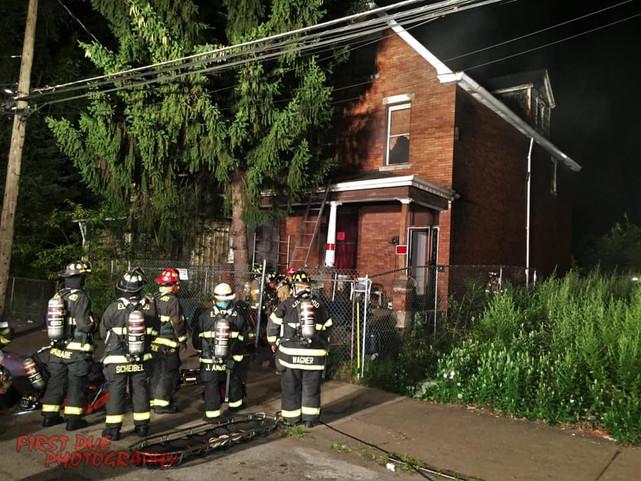 House Fire in Braddock