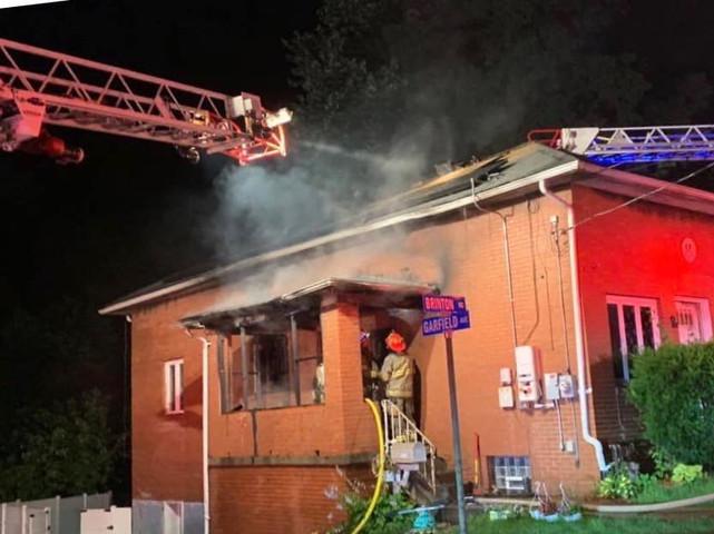 House Fire in Braddock Hills