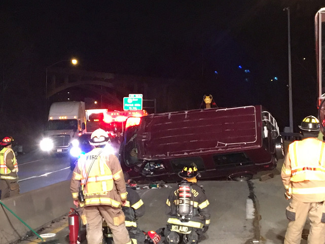 Rollover on Parkway East