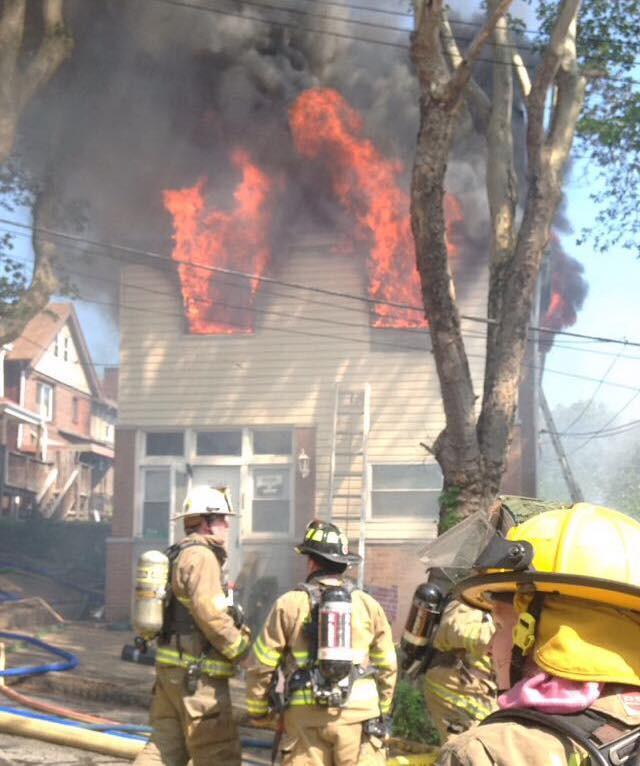 Two-Alarm House Fire in Swissvale with Mayday