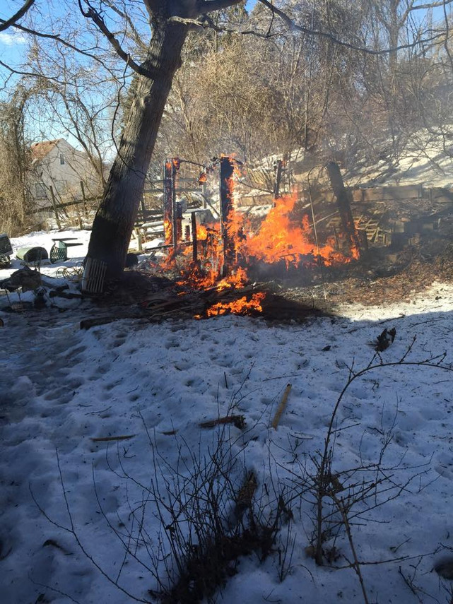 Shed Fire in Penn Hills