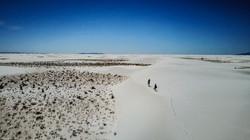White sands desert New Mexico