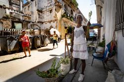 Venditrice di fiori Habana