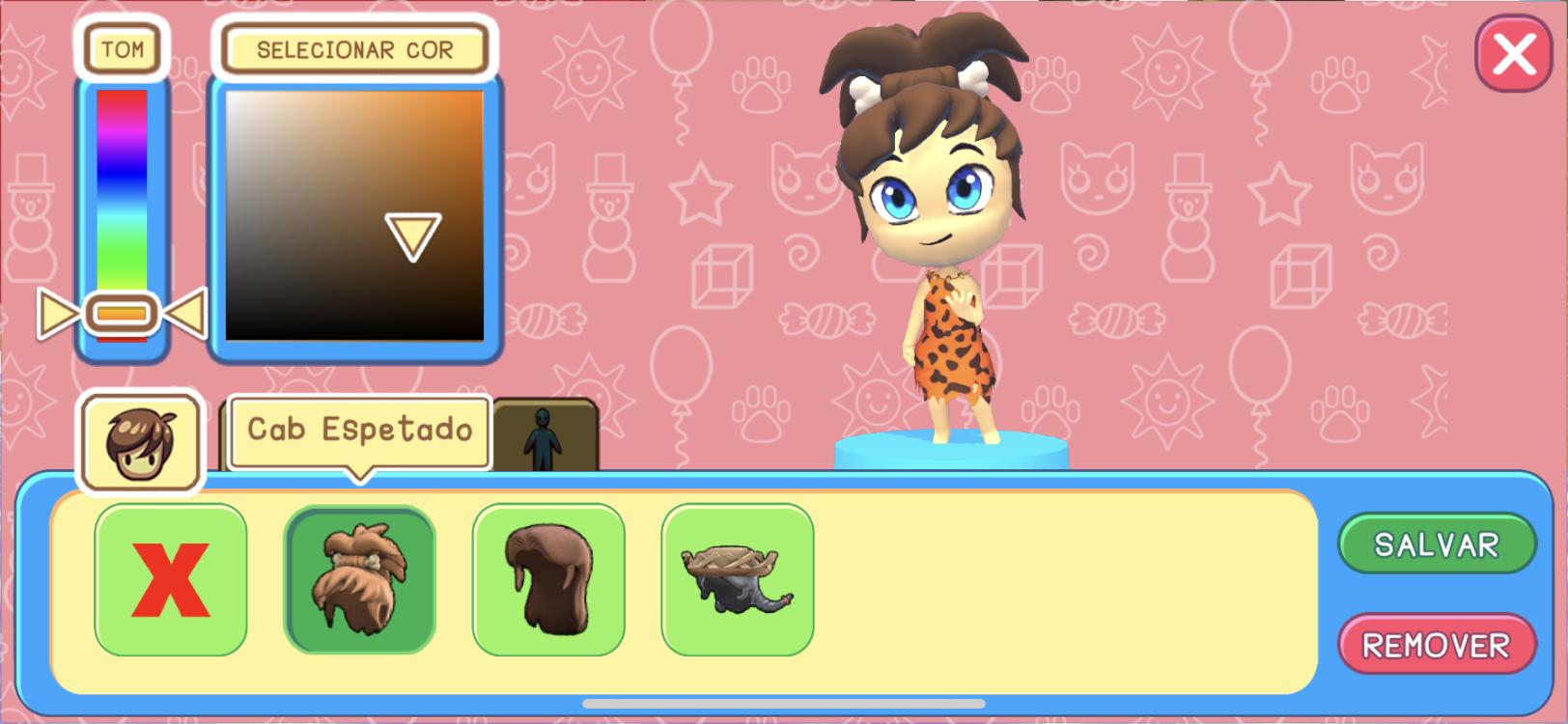 Customização de avatar