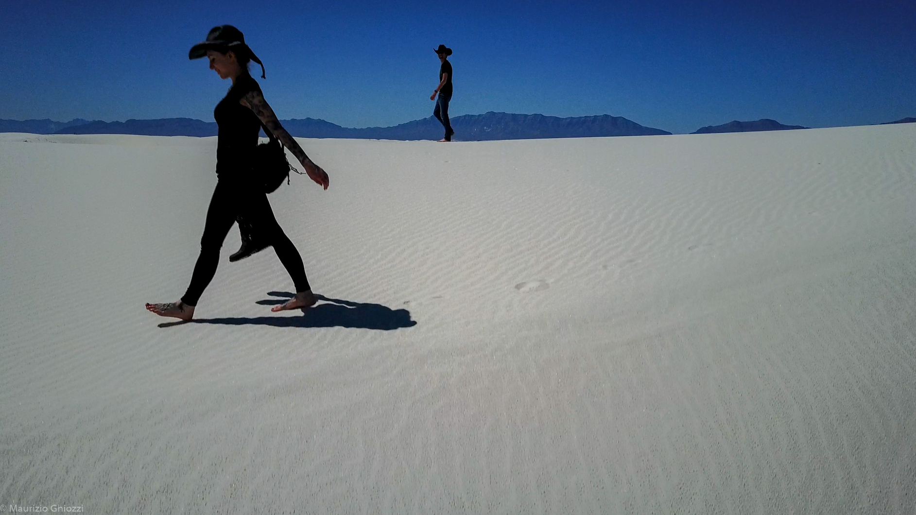 White sands desert New Mexico