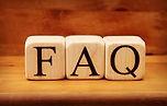 wooden blocks that spell FAQ