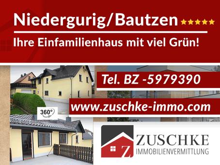Niedergurig / Bautzen -  Einfamilienhaus mit viel Grün
