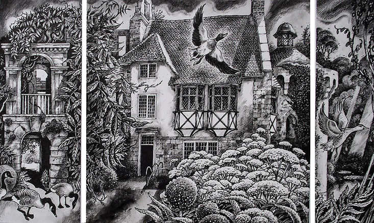 Scotney Castle, geese, ducks
