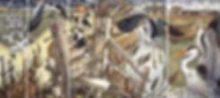 Heron, Romney Marsh, stile, cows