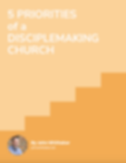 Picture of a cover of a document on the 5 priorities of a disciple making church