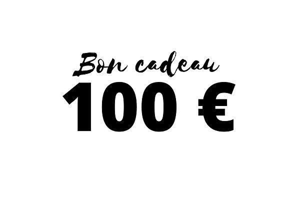 Bon cadeau d'une valeur de 100 €