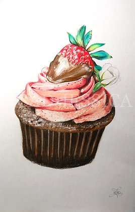 DESSIN | Cupcake Choco/fraise