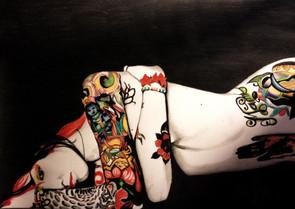 """PORTRAIT VENDU """"Femme asiatique tatouée"""" / 2014"""