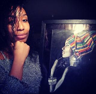 MCAD Jessica avec un de ses portraits