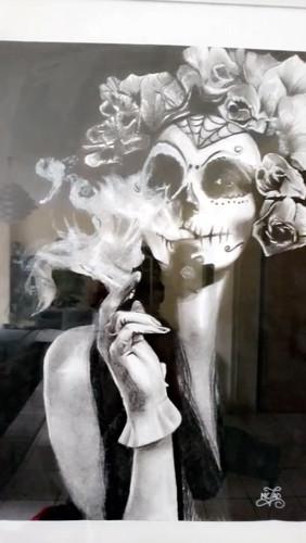 PORTRAIT | La femme au crâne mexicain