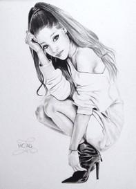 """PORTRAIT VENDU """"Ariana Grande"""" / 2016"""