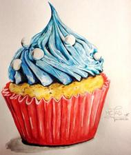Dessin | Cupcake bleu