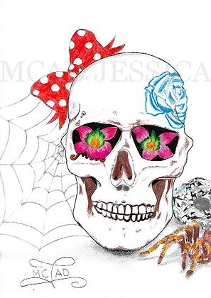 PORTRAIT | Skull Crâne coloré