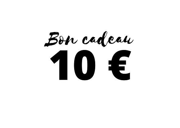 Bon cadeau d'une valeur de 10 €