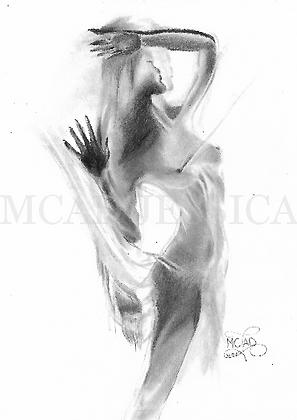 PORTRAIT | Femme silhouette drapée
