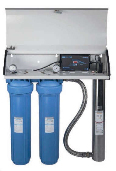 A multistage Ultraviolet (UV) water purification system that purifies upto 100 liters per hour.