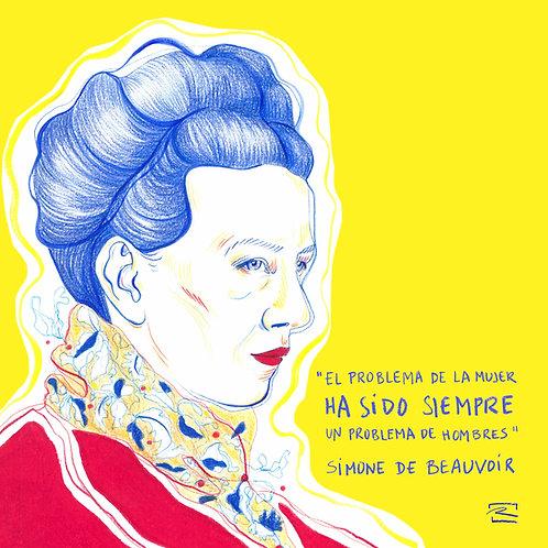 Simone de Beauvoir ( Print digital)
