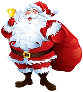 Santa_Claus_with_Bell_and_Bag_PNG_Clipar