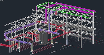 Building Information Model (BIM) Grid SystemPlant