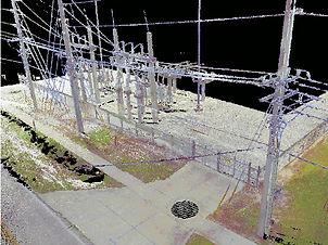 Electrical Substation 3-D Laser Scan  