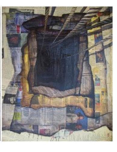 Collection of Paper and Memory lI | Alireza Darvish | Acrylic on Paper I 80X60cm