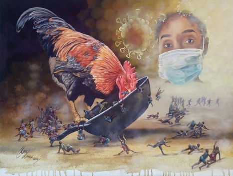 Keith Zenda | Coronavirus Quarantine | Acrylic on canvas | 80x60cm