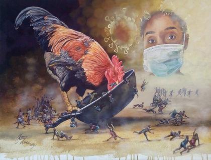 Keith Zenda   Coronavirus Quarantine   Acrylic on canvas   80x60cm